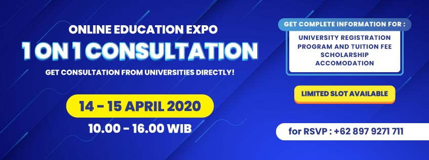 Gambar 1 Online Education Expo April 2020 1 On 1 Consultation