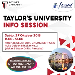 Eklusif Info Session with Taylor's University