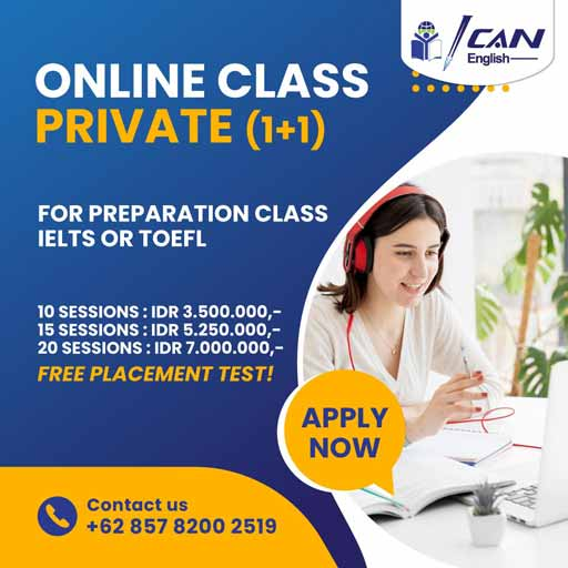 Online Class Private for Preparation Class IELTS or TOEFL